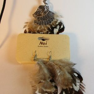 Peacock Necklace & Earrings Set